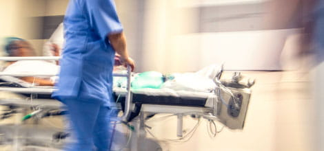 Blurred image of emergency doctors