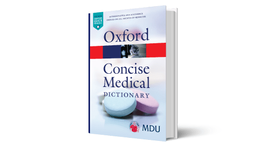 Cover of Oxford Concise Medical Dictionary