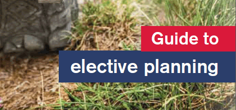 Guide to elective planning